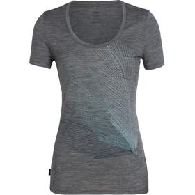 Icebreaker Tech Lite Plume SS Scoop Shirt Women gritstone heather